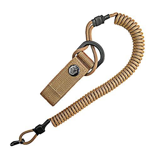 Spiral-Kabel, elastischer Schlüssel-Anhänger aus Paracord, Lanyard, Schlüssel-Band, Stretch Fang-Riemen, RSG-Halterung mit Karabiner