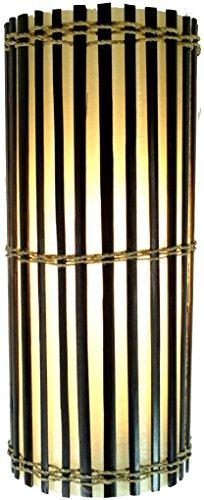 Guru-Shop Wandlampe/Wandleuchte, Bambus Designleuchte Mirabilis - in Bali Handgefertigt aus Naturmaterial, Bambus, 30x12,5x12,5 cm, Dekolampe Stimmungsleuchte -