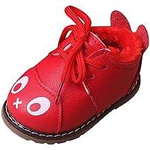 YanHoo Botas de Nieve para niños Zapatos de otoño e Invierno Dibujos Animados Infantiles más Botas