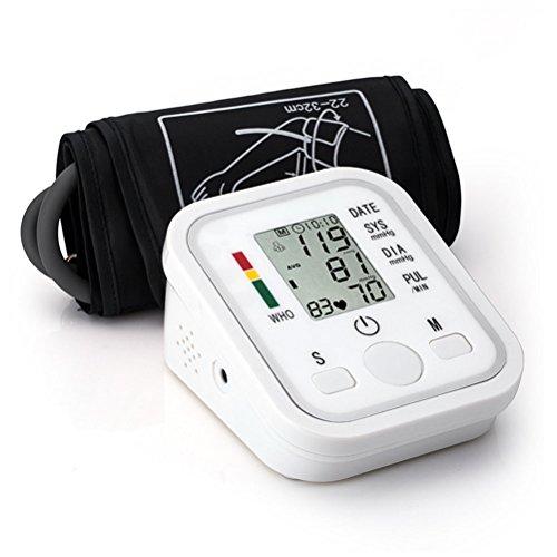 ROSENICE Blutdruckmonitor Vollautomatischer Oberarmdruckmonitor mit Manschette Batteriebetriebene Sprachansage