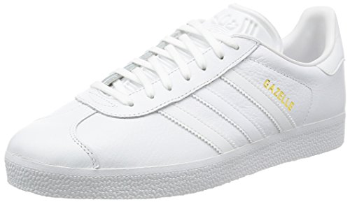 adidas Gazelle, Unisex Adults' Low-Top Sneakers, White (Ftwr White/ftwr White/gold Met,), 7.5...