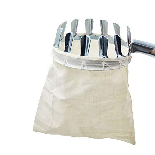 tianxiangjjeu Garten-Obstpicking Metall-Kopftasche mit hoher Höhe Apfelbirnenpicking tragbares Fanggerät