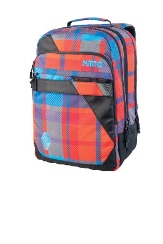 Nitro Rucksack Lock, plaid red-blue, 50 x 34 x 24 cm, 37 liters, 1141878032 -