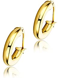 Orovi Woman Hoops Earrings 9 ct / 375 Yellow Gold DICEy3O