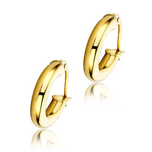 2600668a0e15 Orovi pendientes de mujer aros en oro amarillo 9 kilates ley 375