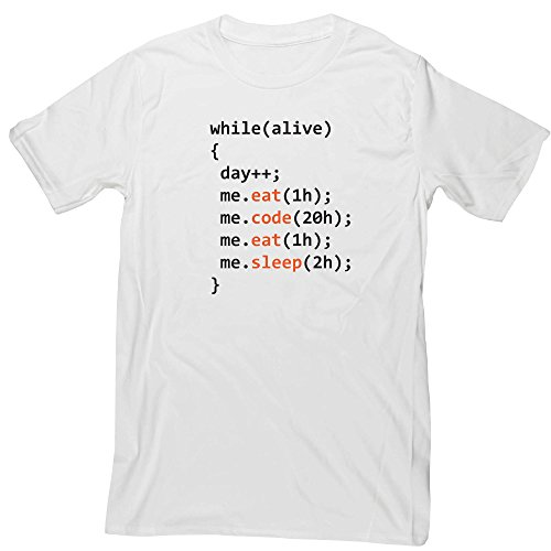 Hippowarehouse Eat Code eat Sleep Day of Programmer Unisex Short Sleeve t-Shirt (Specific Size Guide in Description)