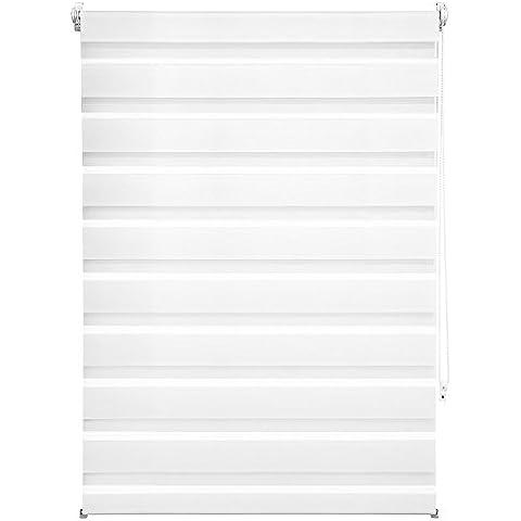 TecTake® Estor enrollable translúcido - blanco - 86 x 150 cm