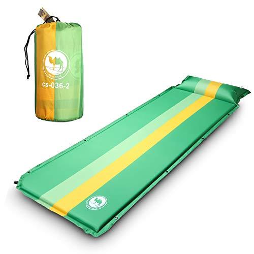 Ekkong materassino da campeggio, ultraleggero & portatile sleeping pad per trekking/campeggio/escursione, impermeabile, anti-umidità, 190 x 68 x 3.5 cm (verde)