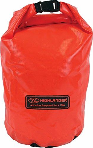 Wasserdichter PVC Packsack 15L 30L Schwarz Orange Verschiedene Größen und Farben (Orange, 15 l)