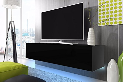 TV-Schrank-Lowboard-Hngeboard-SIMPLE-mit-LED-Blau
