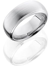 SlipRock Cobalt Chrome, Satin Finish High Domed Wedding Band Satin Center (sz H to Z1)
