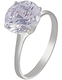 Much More Amarican Diamond Silver Plated Fahion Ring For Women's