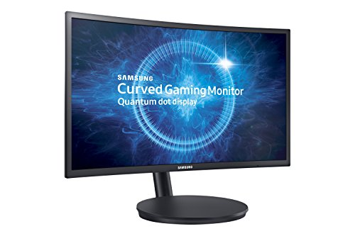 "Samsung C24FG70 Monitor Curvo VA da Gaming, 24"" Full HD, 1920 x 1080, 144 Hz, 1 ms, FreeSync, DP, HDMI, 16.7M di Colori, sRGB 125%, Game Mode, Quantum Dot, Base Semplice, Nero"