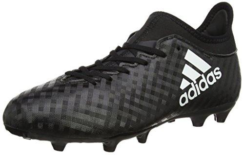 adidas X 16.3 Fg, Chaussures de Football Compétition Mixte Enfant Noir (Core Black/Ftwr White/Core Black)