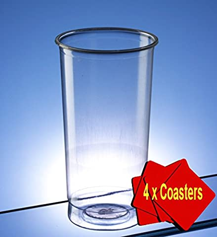 Plastic Disposable Pimms Glasses 340ml (12 oz) Clear - pack of 50