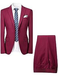 Allthemen Uomo Intelligente 2 Tuta Slim Fit Cena Wedding Tuxedo Abiti  Monopetto One Button Blazer Giacca e0c1a1d87fb