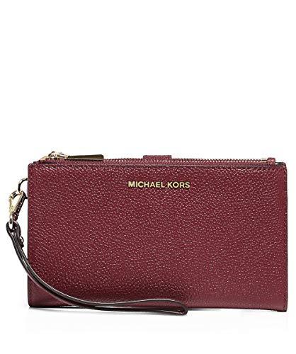 3beb7891071f1a MICHAEL Michael Kors Women's Mercer Pebble Phone Wristlet One Size Red