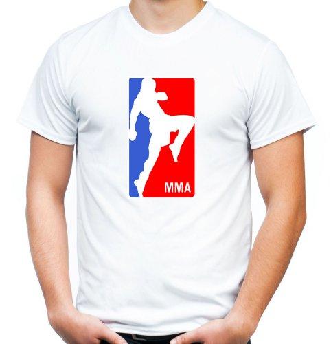 "MMA ""Knie"" T-Shirt | Muay Thai | Fight Club | Boxing Weiß"