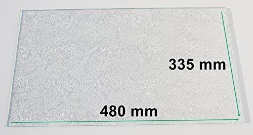 Kühlschrank Einlegeboden / Glasplatte / Gemüsefach – Strukturglas 4 mm dick – 480 mm x 335 mm - Direkt vom Glasereifachbetrieb!!!
