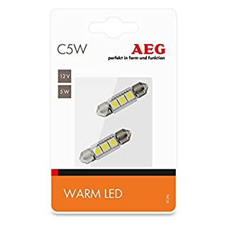 AEG Automotive 97290 High-Performance LED Warm-white C5W, 12 V, set of 2