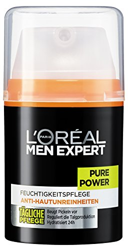 L\'Oreal Men Expert Pure Power Feuchtigkeitspflege, Anti-Hautunreinheiten, Tägliche Pflege, 50 ml