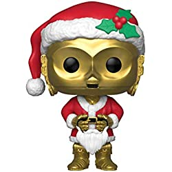 Funko – Pop.Color Star Wars Color Holiday Santa C-3PO (Bobblehead),, 33888