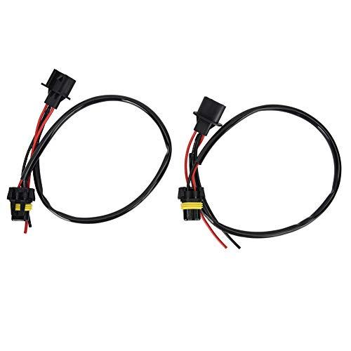 EBTOOLS 2Pcs Konverter Kabel H13 9008 Sockets 9006 Birnen Scheinwerfer Umwandlungs Adapter/Drahtverlängerungskabel für Scheinwerfer oder Nebelscheinwerfer (9008 H13-stecker)
