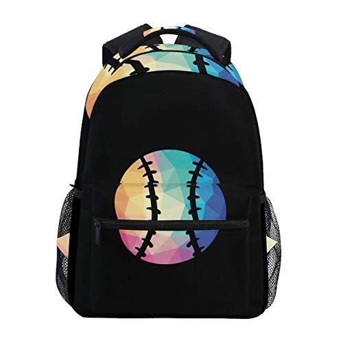Stilvoll Rucksack mit geometrischem Softball-Print Rucksack-Leichte School College Reisetaschen 16 X 11,5 X 8 Zoll (Softball-rucksäcke)