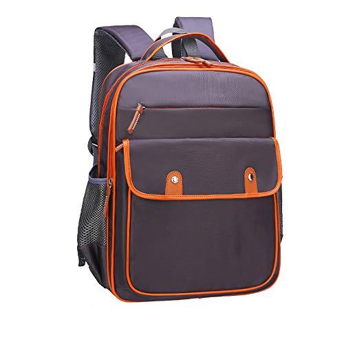 Kinder Rucksack Student Schulter Einfachen Student Tasche Geeignet Für 1-3-6 Jahre Alt,Brown-OneSize