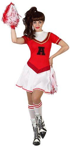 ATOSA 23012 - Cheerleader Kostüm, Größe M-L, rot/weiß (23012)