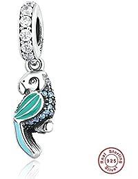 7db934c95b06 MOCCI 2016 verano DIY Ajustes para las pulseras de Pandora plata esterlina  925 auténticos Loro tropical
