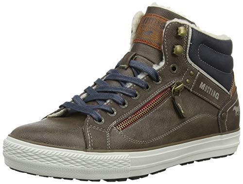 Mustang Herren High Top Hohe Sneaker, Braun (Kaffee 306), 45 EU
