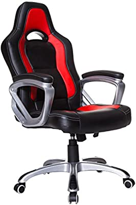 Brand New Designed Racing Sport Swivel Office chair in Black Blue Red Color - low-cost UK chair shop.