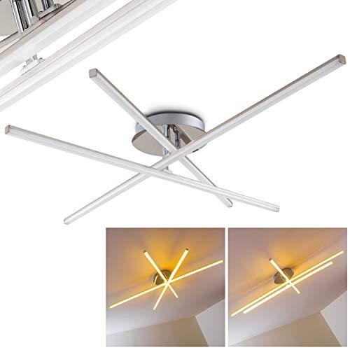 LED Deckenlampe Minimalistische Deckenleuchte Powassan – 3-flammiger Deckenspot – Effektvolle Wohnzimmerlampe aus Metall mit drehbaren Leuchtelementen - 3000 Kelvin - 2400 Lumen