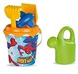 Smoby SM 040170 - Beach, Spiderman Eimergarnitur mit Gießkanne, 16 cm