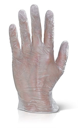 beeswift vdgxl click2000 Disp en vinyle transparent Gants XL