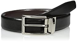 Van Heusen Men Men Non Stitched Leather Reversible Belt, black/Brown, 36