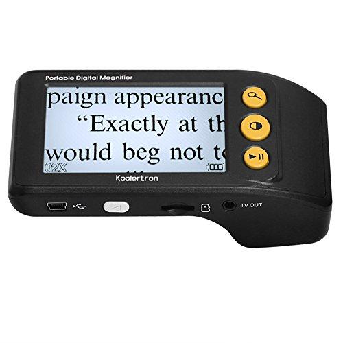 Digital Video Magnifier, 3.5 Zoll Handportable Mobile Elektronische Lesehilfe Leselupen für sehbehinderte, Senioren, Makuladegeneration, Menschen mit hoher Kurzsichtigkeit