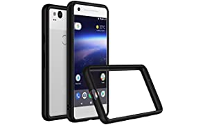 RhinoShield Bumper Case PIXEL 2 XL [CrashGuard] | Shock Absorbent Slim Design Protective Cover [3.5M/12ft Drop Protection] - Black
