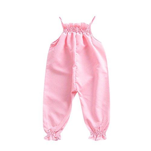 Longra Baby Overalls Säugling Spielanzug Kleinkind Baby Mädchen Candy Color Strampler Neugeborene Baby Ärmellos Spaghetti Jumpsuit...