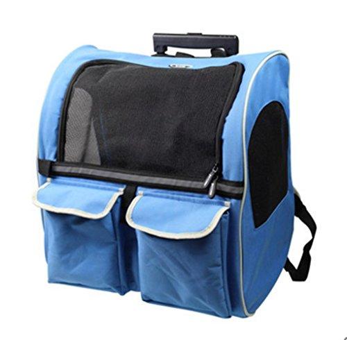 Imagen de dixon.y pet travel bag / doble rueda / tirón de rods caja / gato y perro portable  / nido de animal doméstico / oxford material de la tela , 4 large