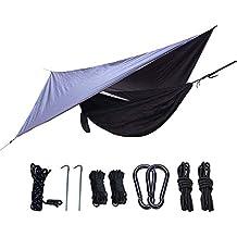 J.SPG Hamaca de Camping con mosquitero.Capacidad de Carga de 300kg 2 Personas