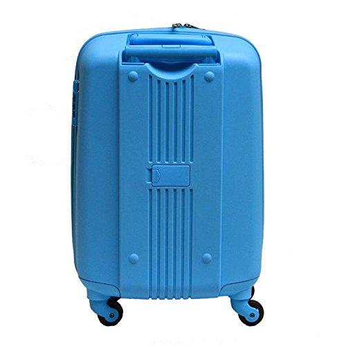 Xiuxiandianju business e 20 pollici 24 pollici universale per ruote trolley valigia ABS impermeabile e resistente all'usura cabina viaggio borsa (blu) , 24 inch