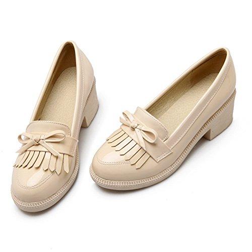 Balamasaapl10139 - Sandales Compensées Beiges Pour Femmes