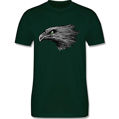 Vögel - Adler - Herren Premium T-Shirt Dunkelgrün
