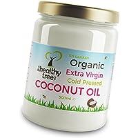 Rohes extra natives Bio Kokosöl - Fantastisch zum Kochen, auf Haar und Haut - Kaltgepresst Kokosnussöl von TheHealthyTree Company