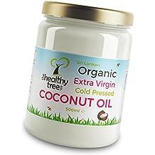 Aceite de coco extra virgen orgánico - Fantástico para cocinar, fabuloso para el cabello y la piel - Hermoso aceite de coco orgánico de Sri Lanka por TheHealthyTree Company