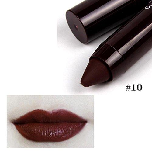 Gaddrt Fräulein Rose Make-up Matte Lippe lang anhaltende süße Farbe Lippenstift Bleistift Lippenstift (B)