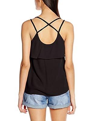 Vero Moda Women's Vmcrinkla S/L Frill Top A Vest