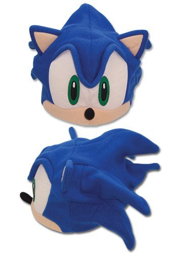 Great Eastern Sonic The Hedgehog - Sonic Fleece Cap / Hut (Hedgehog Kostüm Sonic)